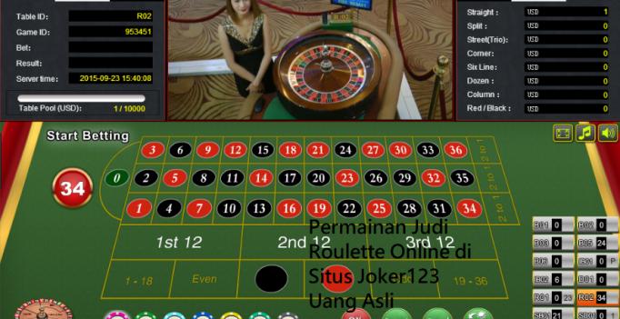 Permainan Judi Roulette Online di Situs Joker123 Uang Asli